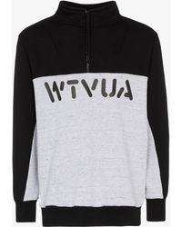 WTAPS Contrast Logo Sweatshirt - Black