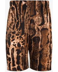 Edward Crutchley Ocelot Bermuda Silk Shorts - Brown