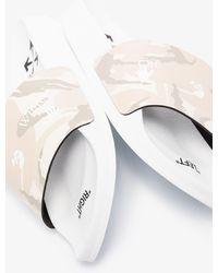 Off-White c/o Virgil Abloh - X Browns 50 Neutral Camouflage Print Slides - Lyst