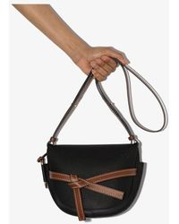 Loewe Gate Small Leather Cross Body Bag - Black