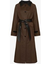 Kassl - Editions Waxed Cotton Trench Coat - Lyst