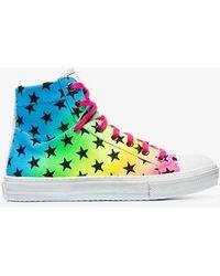 Amiri - Multicoloured Rainbow Star High Top Sneakers - Lyst