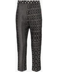 Haider Ackermann - Jacquard Cropped Trousers - Lyst