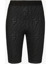 Fendi Ff Vertigo Cycling Shorts - Black