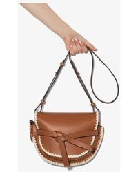 Loewe Small Gate Crochet Shoulder Bag - Brown