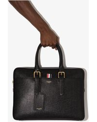 Thom Browne Classic Leather Briefcase - Black