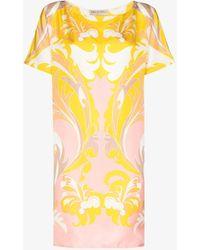 Emilio Pucci - Tropicana Print Silk Mini Dress - Lyst