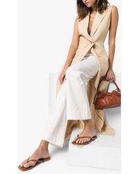STUDIO AMELIA 2.2 Flat Leather Sandals - Brown