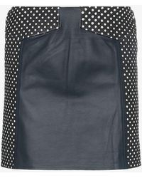SKIIM - Sofia High-waisted Polka Dot Leather Skirt - Lyst