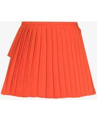 Maximilian - Narisha Pleated Front Mini Skirt - Lyst