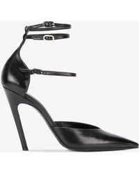 1cd9dab5e016 Balenciaga - - Curved Stiletto Heel Court Shoes - Women - Leather - 39.5 -  Lyst