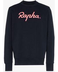 Rapha Logo Print Sweatshirt - Blue