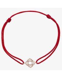 TinyOm - Red Chakra 18k Yellow Gold Bracelet - Lyst