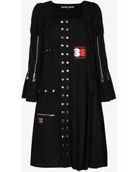 Chopova Lowena Morson Kilt Midi Dress - Black