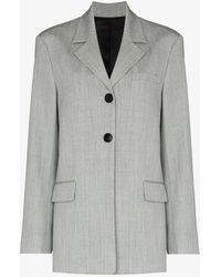 Commission Hybrid Single-breasted Blazer - Grey