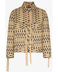 Song For The Mute - Weave Pattern Button-up Jacket - Lyst