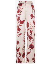 Johanna Ortiz - Pissaro Silk Floral Print Pyjama Trousers - Lyst
