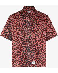 WTAPS Night Vision Leopard Print Shirt - Pink