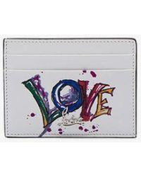 Christian Louboutin - White Paris Love Leather Cardholder - Lyst
