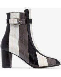 Newbark - Sabrina 75 Striped Ankle Boots - Lyst