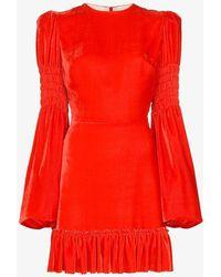 The Vampire's Wife - Runaway Ruffle-trim Silk Blend Dress - Lyst