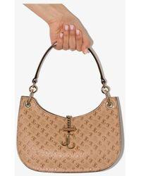 Jimmy Choo Varenne Small Leather Shoulder Bag - Brown