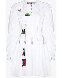 Chopova Lowena Daze Zip Bodice Mini Dress - White