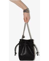 Stella McCartney Falabella Micro Faux Leather Bucket Bag - Black