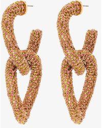 Oscar de la Renta Gold-tone Crystal Earrings - Multicolor
