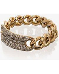 SHAY - 18k Yellow Gold Pave Diamond Link Ring - Lyst