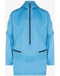 Kiko Kostadinov Mullas Gathered Hooded Jacket - Blue