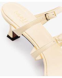 MANU Atelier Neutral Naomi 50 Leather Sandals - Natural