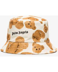 Palm Angels X Browns 50 White Bear Print Bucket Hat