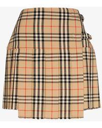 Burberry Vintage Check Wool Kilt - Brown
