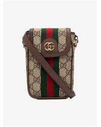 Gucci Ophidia GG Supreme Mini Bag - Brown