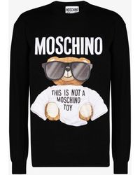 Moschino Teddy Bear Virgin Wool Jumper - Black