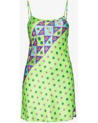 Frankie's Bikinis X Browns Aster Floral Mini Dress - Green