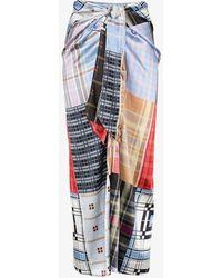 Ganni Check Patchwork Skirt - Multicolor