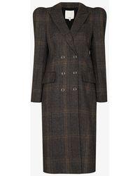 Tibi Matswool Double-breasted Wool Coat - Grey
