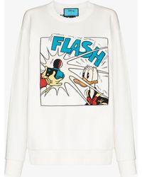 Gucci X Disney Donald Duck Sweatshirt - White