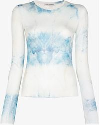 Our Legacy Super Slim Printed Top - White