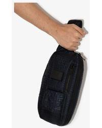 Balmain Tonal Monogram Cross Body Bag - - Leather/fabric - Black