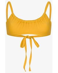 Araks Yash Gathered Bikini Top - Yellow