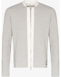 PREVU Webster Zip-up Sweatshirt - White