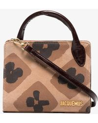 Jacquemus - Brown Le Sac Bahia Mini Suede Tote Bag - Lyst