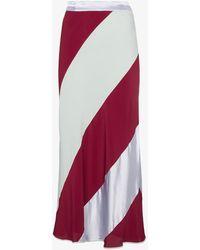 Marni - Diagonal Striped Skirt - Lyst