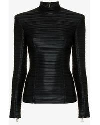 Balmain - Structured Pleated Top - Lyst