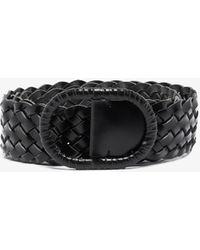 Totême Black Braided Wide Leather Belt - Blue