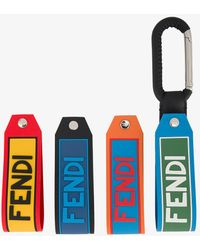 Fendi - Spring Clip With Four Logo Tags - Lyst
