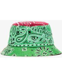 Children of the discordance Bandanna Print Bucket Hat - Green